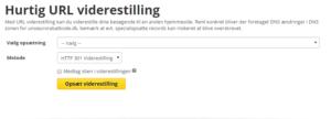 Hurtig URL viderestilling